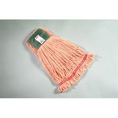 Web Foot Wet Mop Heads, Shrinkless, Cotton/Synthetic, Orange, Medium RCPA252ORA