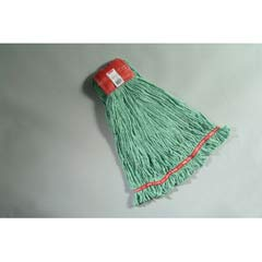 Web Foot Wet Mop Heads, Shrinkless, Cotton/Synthetic, Green, Large RCPA253GRE
