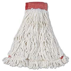 Web Foot Wet Mop Heads, Shrinkless, Cotton/Synthetic, White, Large [RCPA253WHI] RCPA253WHI