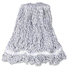 Web Foot Finish Mops, White, Medium, Cotton/Synthetic, 1