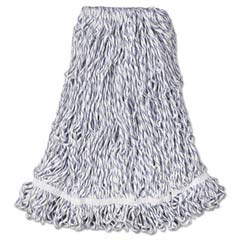 Web Foot Finish Mops, Cotton/Synthetic, White, Large, 1