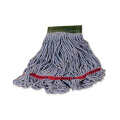 Swinger Loop Wet Mop Heads, Cotton/Synthetic, Blue, Medium RCPC112BLU