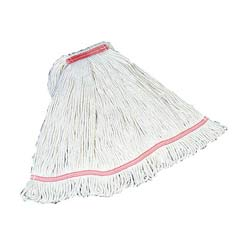 Swinger Loop Wet Mop Heads, Cotton/Synthetic, White, Medium RCPC112WHI