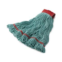 Swinger Loop Wet Mop Heads, Cotton/Synthetic, Blue, Large [RCPC153BLU] RCPC153BLU