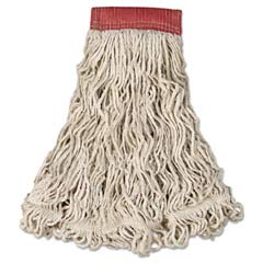 Swinger Loop Wet Mop Heads, Cotton/Synthetic, White, Large [RCPC153WHI] RCPC153WHI