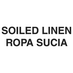 "Medical Decal, ""Soiled Linen"", 10 x 4, White RCPCL-2"