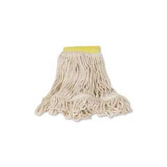 Super Stitch Blend Mop Heads, Cotton/Synthetic, White, Medium RCPD212WHI