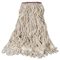 Super Stitch Blend Mop Heads, Cotton/Synthetic, White, Large RCPD213WHI