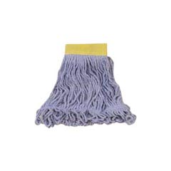 Super Stitch Looped-End Wet Mop Head, Cotton/Synthetic, Small Size, Blue RCPD251BLU