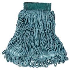 Super Stitch Blend Mop Heads, Cotton/Synthetic, Green, Medium [RCPD252GRE] RCPD252GRE