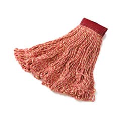 Super Stitch Blend Mop Heads, Cotton/Synthetic, Red, Large RCPD253RED