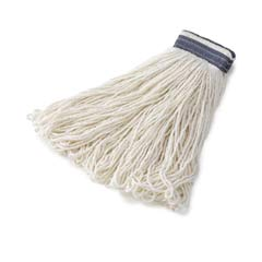 Looped-End Mop Heads, 24 oz. White Rayon - 1