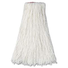 Premium Mop Heads, Rayon, Cut-End, White, 24 oz, 1-in. Orange Headband RCPF417WHI