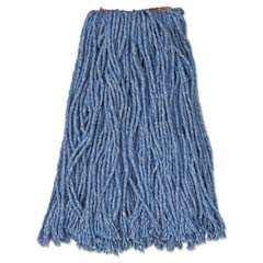 Cut-End Blend Mop Heads, Cotton/Synthetic, Blue, 16 oz, 1-in. Headband RCPF516-12BLU