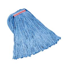 Cut-End Blend Mop Heads, Cotton/Synthetic, Blue, 20 oz, 1-in. Headband RCPF517-12BLU