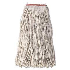 Cut-End Blend Mop Heads, Cotton/Synthetic, White, 24 oz, 1-in. Headband RCPF518-12WHI