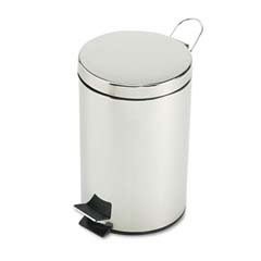 Rubbermaid [MST35] Economical Step Can, Round, Steel, 3 1/2 gal, Stainless Steel RCPMST35SSPL