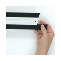 Hook & Loop Replacement Strips, 1 1/10w x 18l, Black RCPQ180BLA