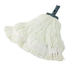 Rubbermaid [Q200] Replacement Mop Head For Flow Finishing System, Nylon, White RCPQ200