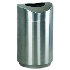 Rubbermaid [2030] Eclipse Open Top Waste Receptacle, Round, Steel, 30 gal, Stainless Steel RCPR2030SSPL
