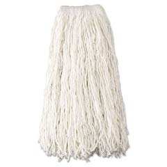 Economy Wet Mop Heads, Rayon, Cut-End, White, 24 oz, Rayon, 1-in. White Headband RCPV418