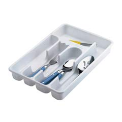 Small Cutlery Tray, Plastic, 6/Case RHP2919RDWHI
