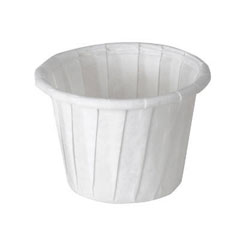 Treated Paper Souffle Portion Cups, 3/4 oz., White, 250/Bag
