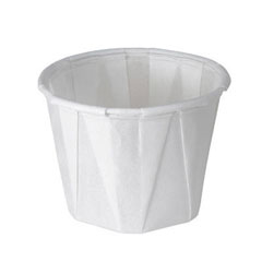 Treated Paper Souffle Portion Cups, 1 oz., White, 250/Bag