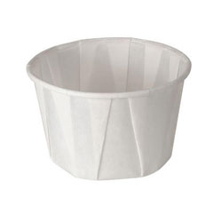 Treated Paper Souffle Portion Cups, 2 oz., White, 250/Bag