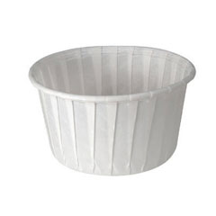 Treated Souffle Paper Portion Cup, 5 1/2 oz., White, 250/Bag