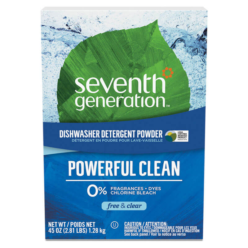 Free & Clear Automatic Dishwashing Powder, Non-Toxic - (12) 45 oz. Boxes SEV22150