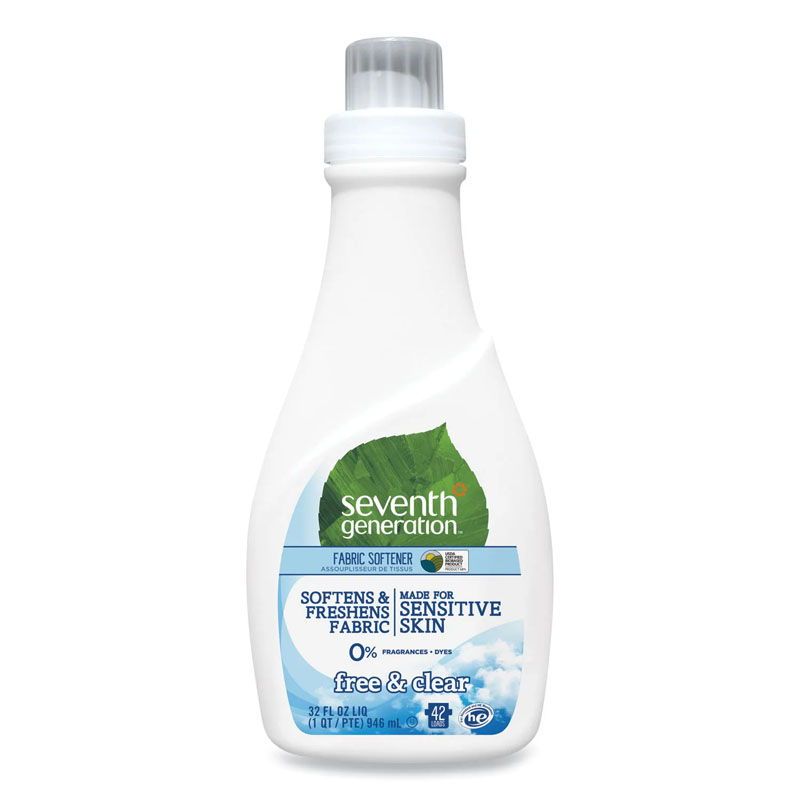 Free & Clear Natural Liquid Fabric Softener, Neutral, 32oz, Bottle SEV22833