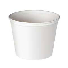 Double Wrapped Paper Bucket, Unwaxed, White, 165 oz SCC10T1UU