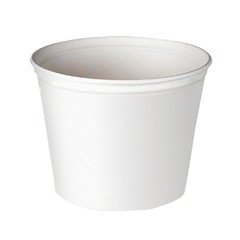 Double Wrapped Paper Bucket, Waxed, White, 165 oz SCC10T3U