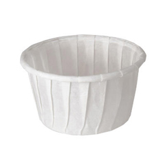 Treated Paper Souffle Portion Cups - 1 1/4 oz. - White - 250/Bag SCC125U