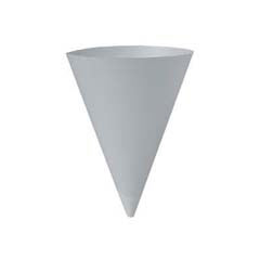 Bare Treated Paper Cone Water Cups, 7 oz., White, 250/Bag SCC156BB