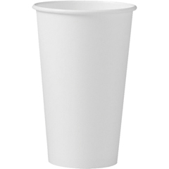 Polycoated Hot Paper Cups, 16 oz., White, 50/Bag SCC316W