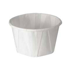 Treated Paper Portion Cups, 3 1/4 oz., White, 250/Bag SCC325
