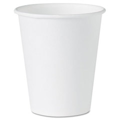 White Paper Water Cups, 4 oz, White SCC404