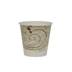 Paper Hot Cup, 10 oz., Polylined, Symphony Design, Beige/White, 50/Pack SCC410SMSYM