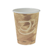 Mistique Polycoated Hot Paper Cup, 12 oz., Printed, Brown, 50/Bag SCC412MSN