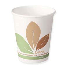 Bare Eco-Forward Paper Hot Cups, 12 oz., Bare Design, 50/Bag SCC412PLN-BB