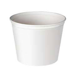 Double Wrapped Paper Bucket, Unwaxed, White, 83 oz SCC5T1UU