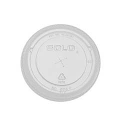 Straw-Slot Cold Cup Lid, 16-24oz Cups, Clear SCC626TS