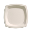 Bare Eco-Forward Sugarcane Plates, 6.7 Inches, Ivory, Square, 125/Pack SCC6PSC