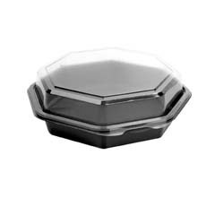 OctaView Cold Food Containers, Black/Clear - (100) 28 oz Containers SCC865612-PS94