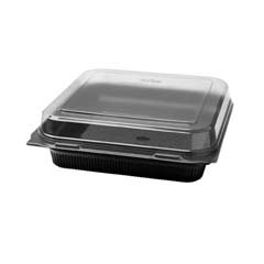Lunch Box, 1-Comp, Black/Clear - (100) 56 oz. Containers SCC872011-PS94