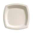 Bare Eco-Forward Sugarcane Plates, 8 1/4 Inches, Ivory, Square, 125/Pack SCC8PSC