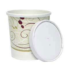 Soup Containers With Lids - 16 oz. - C-Flex Premium Paper  SCCKHB16ASYM