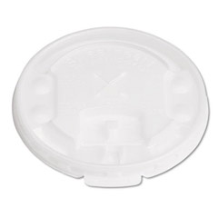 Liftback & Lock Tab Cup Lids for Foam Cups, w/Straw Slot, Translucent SCCLX2SBR